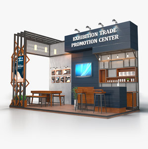 3D exhibition stand 6x3m