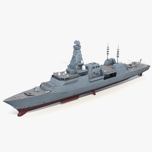type 26 frigate merlin helicopter 3D model