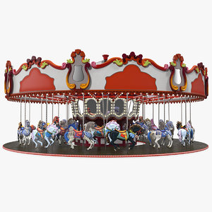 park carousel horses rigged model