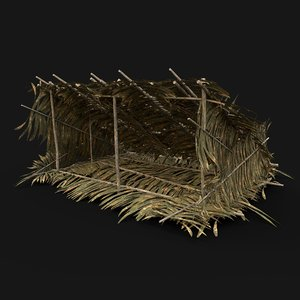 3D model aaa jungle tribal shelter