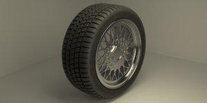 hankook wheel tire 3D model