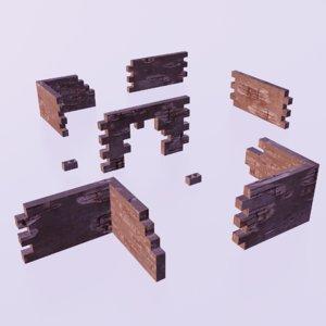 3D walls modular model