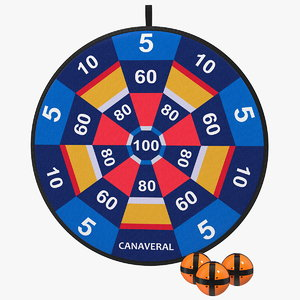canaveral velcro dartboard set 3D model