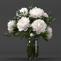 Bouquet of white pions