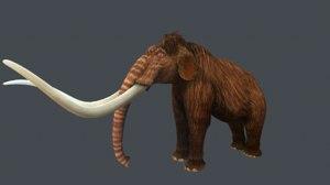 3D mammoth stylized model