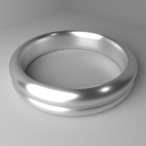 3D silver ring 6 model