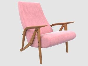 3D gilda armchair model