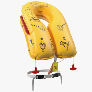 3D inflated airline life vest