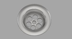 drain valve sink 3D model