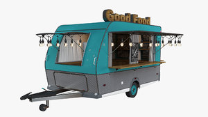3D model food truck vehicle