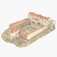 Roman Building II - Low Poly - Textured