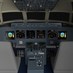 3D cockpit boeing 717