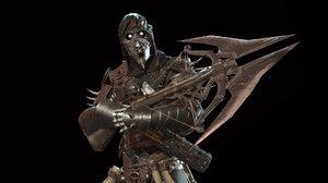3D model character skeleton