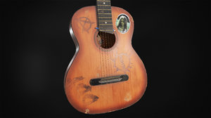 ussr guitar 3D model