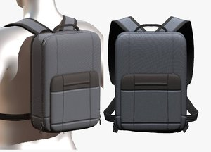 baggage pockets backpack 3D model