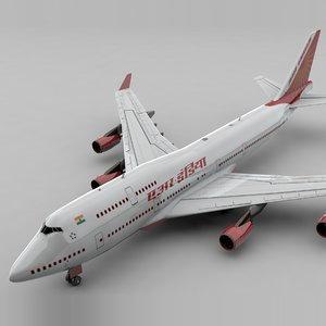 3D boeing 747 air india
