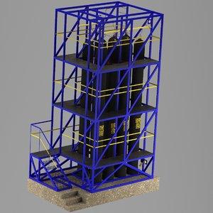 industrial compressed air 3D model