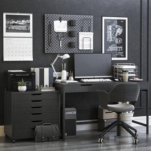 office desk chair 3D