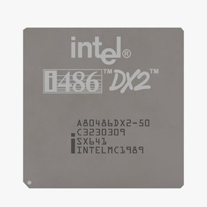 486 intel cpu pbr 3D model