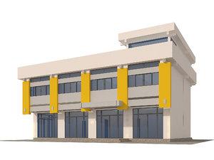 1970s office building model