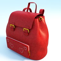 Red women's backpack