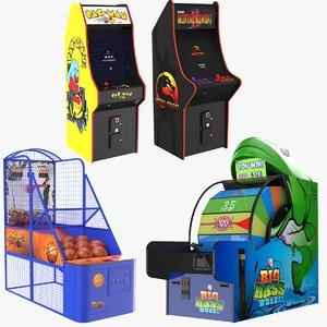 3D real arcade games model