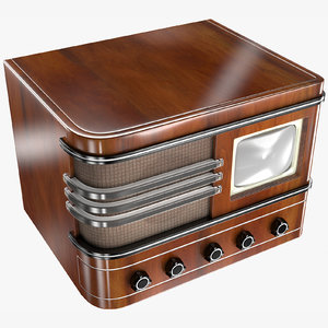 retro tv 3D model