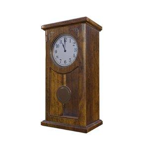 3D wall clock ready model