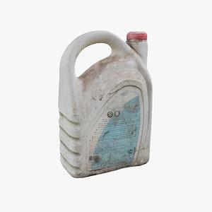 car oil bottle 3D