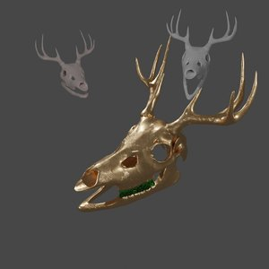 skull anatomy deer 3D model