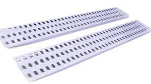 3D model mat traction ramps