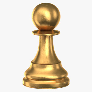 chess piece 02 pawn 3D