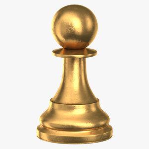 chess piece 02 pawn 3D