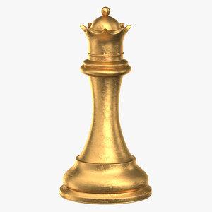chess piece 02 queen 3D model