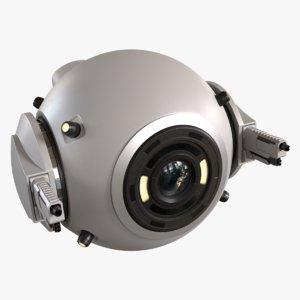 3D concept sci-fi drone