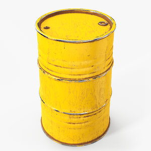 3D model barrel contains metallic