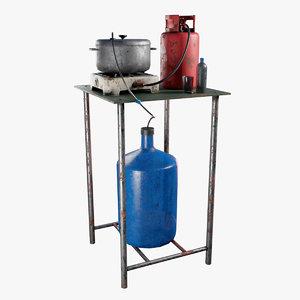 3D handmade distiller model