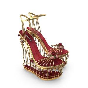 shoessandalsplatformbirdcaged gwomanfemalefashionshoefootwearhigh-heels model