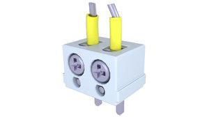 3D model block terminal electric
