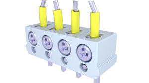 3D block terminal electric