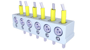 block terminal electric 3D model