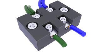 block terminal electric 3D