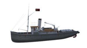minelayer nusret 3D model