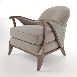 3D model armchair curtsy