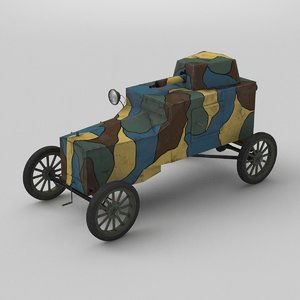 3D armoured car t vehicle