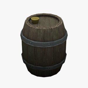 3D model barrel hand painted
