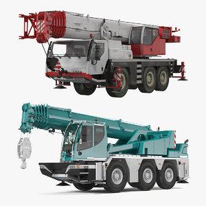 compact mobile cranes 3D model