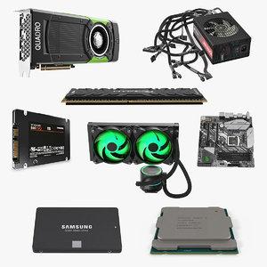computer components 5 3D model