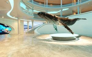 museum interior 3D model