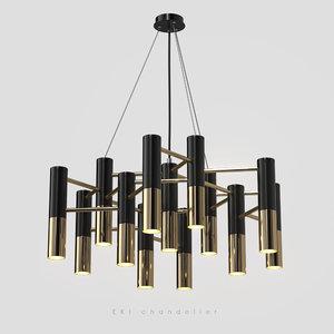 chandelier 13 lamps 3D model